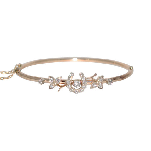 Victorian Cut Diamond Horse Shoe Bangle