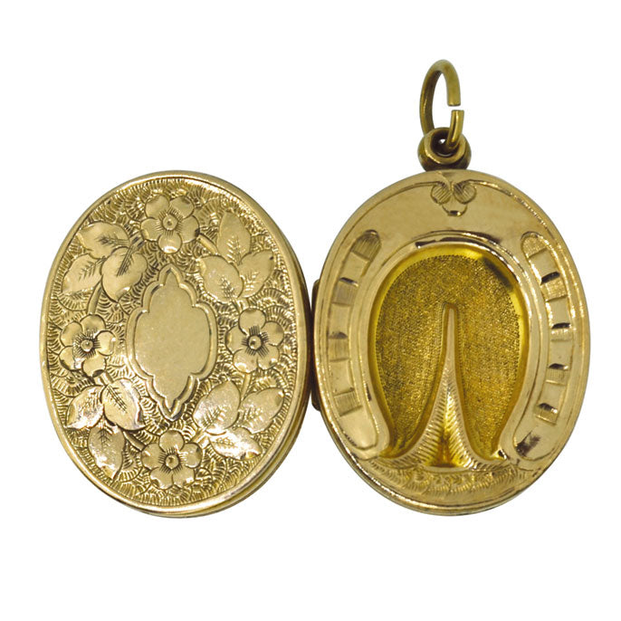 gold horse hoof locket