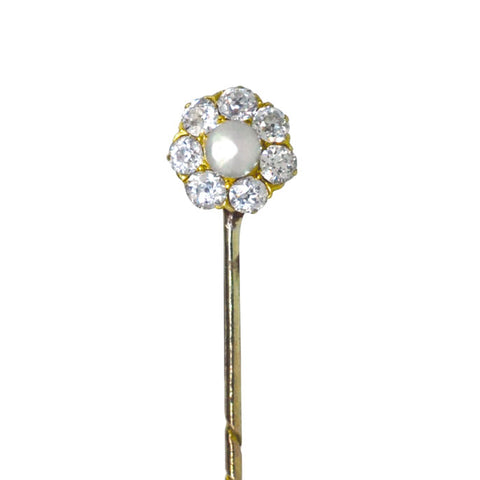 Diamond & Pearl Tie Pin
