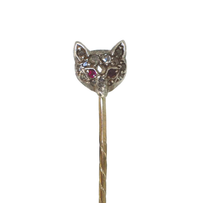 Diamond Fox Stick Pin