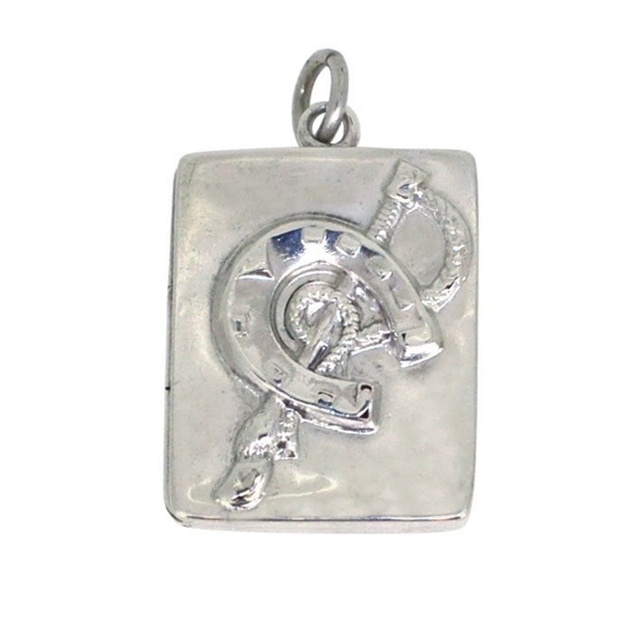Silver Horse Shoe Locket