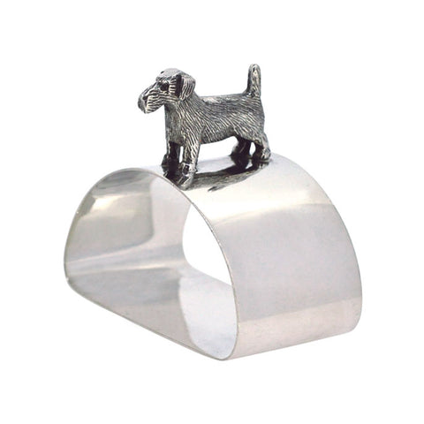 Silver Dog Napkin Ring