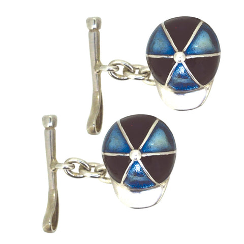 Cap and Whip Enamel Cuff Links
