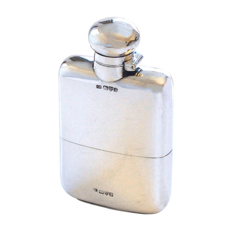 Antique Silver Hip Flask