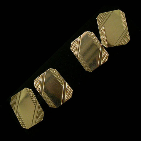 'Deco' Style Cuff-Links
