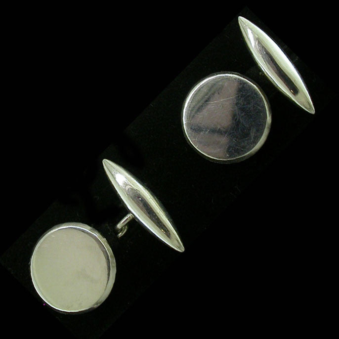 Hallmarked Silver Vintage Cuff-Links