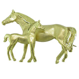 Gold Horse Brooch
