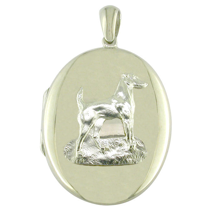 Silver Dog Locket