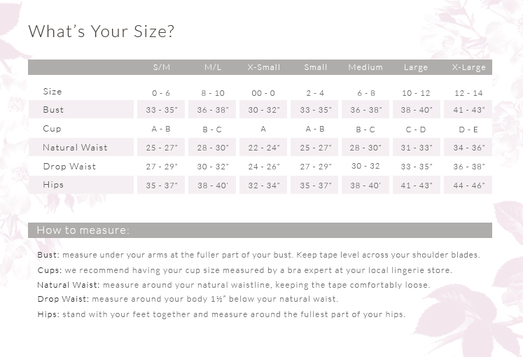 l space size chart