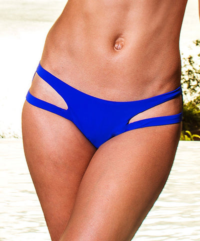 Sauvage Aurora - Cutout Bikini Bottom in Cobalt