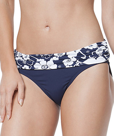 Anne Cole - Summer Floral Fold Over Mid Rise Swim Pant - Beachbliss Swimwear & Apparel - 1