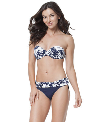 Anne Cole - Summer Floral Twist Front Bandeau Bikini Top - Beachbliss Swimwear & Apparel - 2