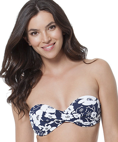 Anne Cole - Summer Floral Twist Front Bandeau Bikini Top - Beachbliss Swimwear & Apparel - 1