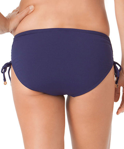 Anne Cole Signature Color Blast Alex Bikini Bottom - Navy - Beachbliss Swimwear & Apparel - 2