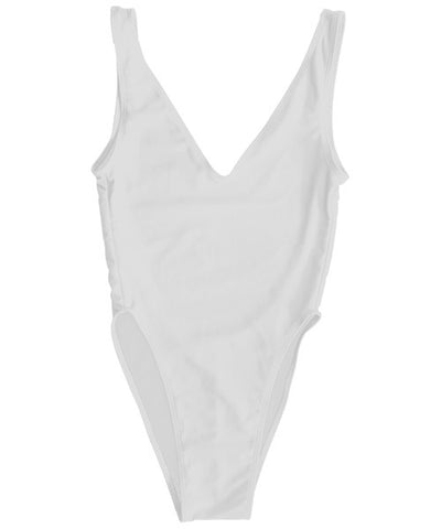 Kovey - The Surfari One Piece Swimsuit in White - Beachbliss Swimwear & Apparel - 1