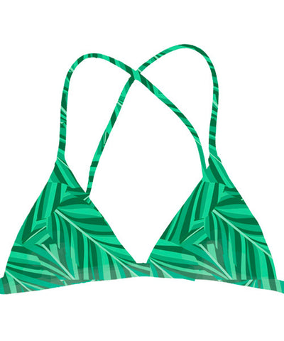 Kovey - Adventure Reversible Triangle Bikini Top in Banana Leaf - Beachbliss Swimwear & Apparel - 1