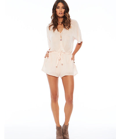 L*Space Alexis Romper - Shell - Beachbliss Swimwear & Apparel - 1