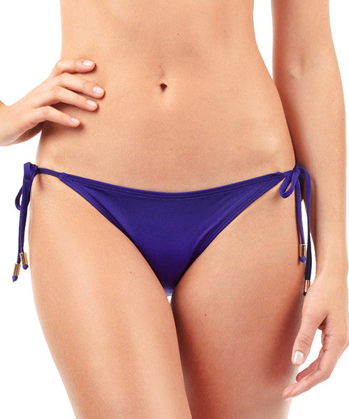 Voda Swim String Bikini Brazilian Cut Bottom in Loganberry - Beachbliss Swimwear & Apparel - 1