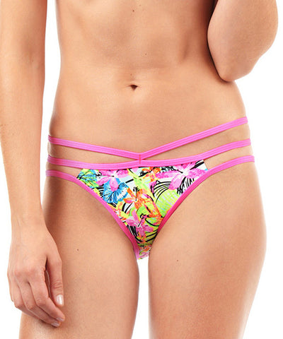 Voda Swim Cutout Hipster Bikini Bottom in Lanai