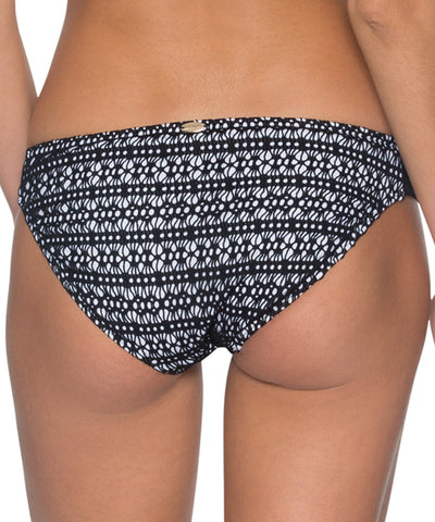 Sunsets Separates Black Diamond - Femme Fatale Side Shirred Bikini Bottom