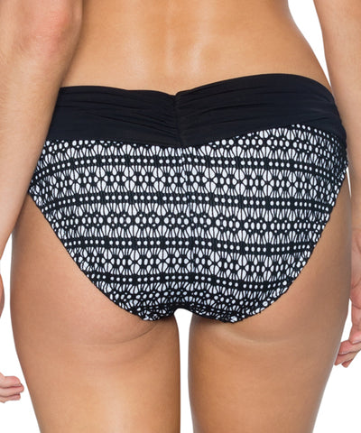 Sunsets Separates Black Diamond - Unforgettable Shirred Waist Bikini Bottom