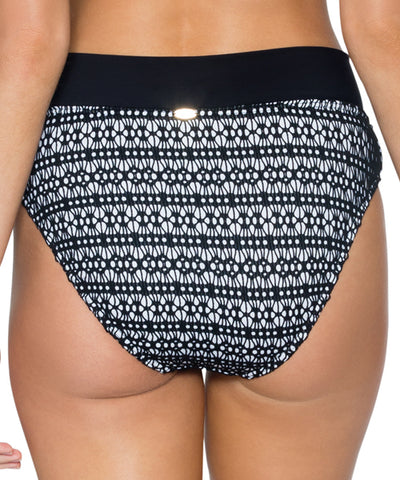 Sunsets Separates Black Diamond - Summer Lovin' V-Front High Waist Bikini Bottom
