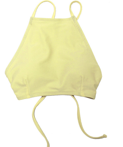 Kovey - Bay High Neck Bikini Top in Mellow - Beachbliss Swimwear & Apparel - 1
