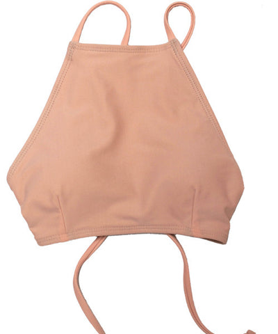 Kovey - Bay High Neck Bikini Top in Pink Sand - Beachbliss Swimwear & Apparel - 1