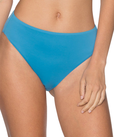 Swim Systems Bay Blue - High Noon High Waist Bikini Bottom