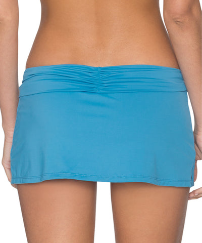 Swim Systems Bay Blue - Aloha Skirted Hipster Bikini Bottom
