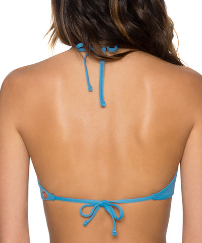 Swim Systems Bay Blue - Elevate High Neck Halter Bikini Top
