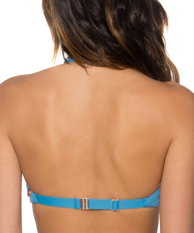 Swim Systems Bay Blue - Trellis Bandeau Bikini Top