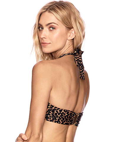 Beach Riot - Leo Jessica High Neck Halter Wrap Bikini Top
