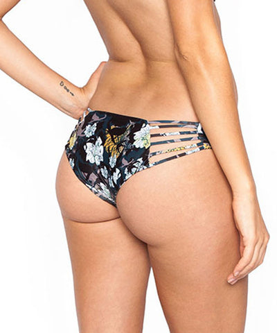 Beach Riot - Midnight Floral Mist Bikini Bottom - Beachbliss Swimwear & Apparel - 2