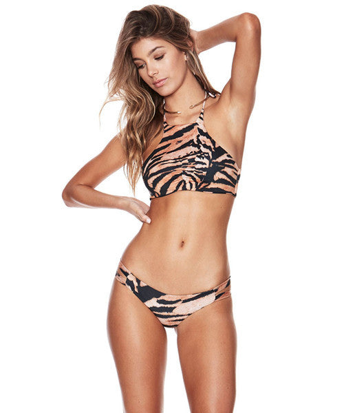 Beach Riot - Tigra Bengal Cropped Halter Top - Beachbliss Swimwear & Apparel - 3