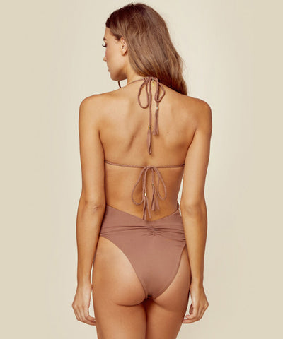 Blue Life Swim - Mirage One Piece Swimsuit in Cacao