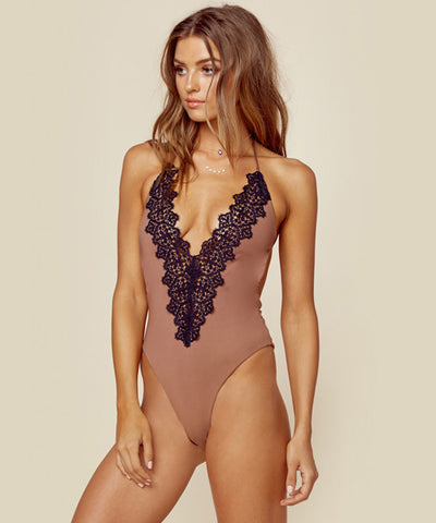 Blue Life Swim - Mirage Halter One Piece in Diamond White