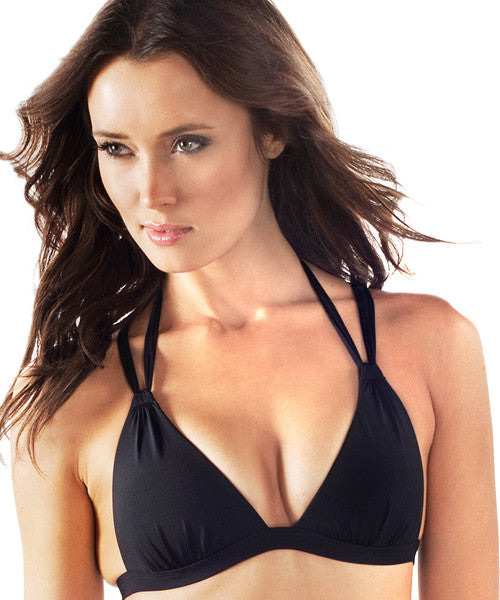 Voda Swim Envy Push Up Crisscross Bikini Top in Black - Beachbliss Swimwear & Apparel - 1