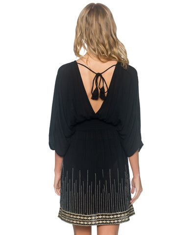 Sunsets Separates Black - Kayla Kimono Cover Up Dress