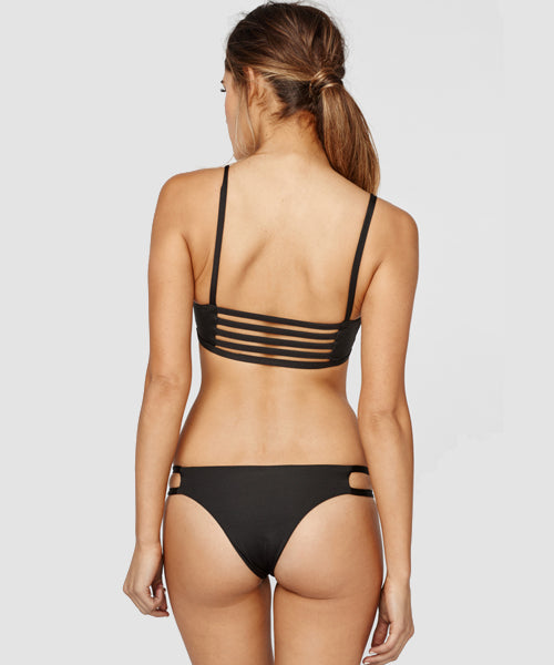 Blue Life Swim - Malibu Crush Cheeky Bikini Bottom in Black - Beachbliss Swimwear & Apparel - 5