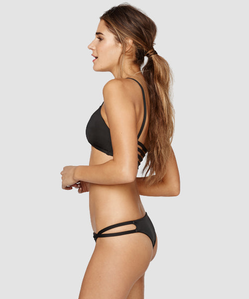 Blue Life Swim - Malibu Crush Cheeky Bikini Bottom in Black - Beachbliss Swimwear & Apparel - 4