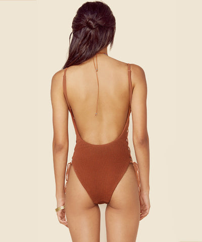 Blue Life Swim - Bronze Mermaid One Piece Swimsuit