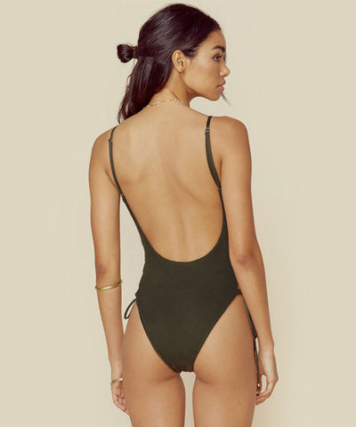 Blue Life Swim - Olive Mermaid One Piece Swimsuit