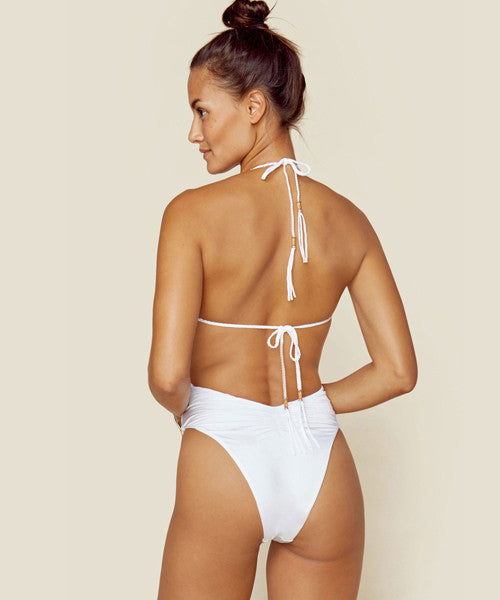 Blue Life Swim - Mirage Halter One Piece in Diamond White - Beachbliss Swimwear & Apparel - 3