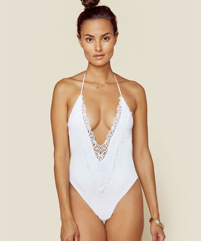 Blue Life Swim - Mirage Halter One Piece in Diamond White - Beachbliss Swimwear & Apparel - 1