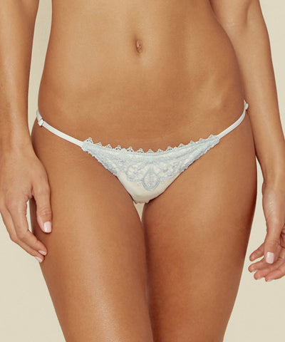 Blue Life Swim - Mirage Tie Side Bottom in Diamond White