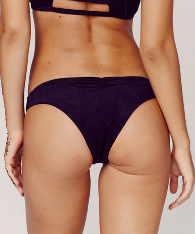 Blue Life Swim - Suede Crush Bikini Bottom in Vintage Black - Beachbliss Swimwear & Apparel - 2