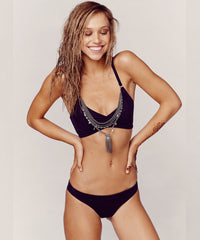 Blue Life Swim - Suede Scoop Bikini Top in Vintage Black - Beachbliss Swimwear & Apparel - 4