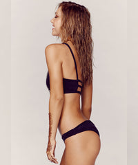 Blue Life Swim - Suede Scoop Bikini Top in Vintage Black - Beachbliss Swimwear & Apparel - 5