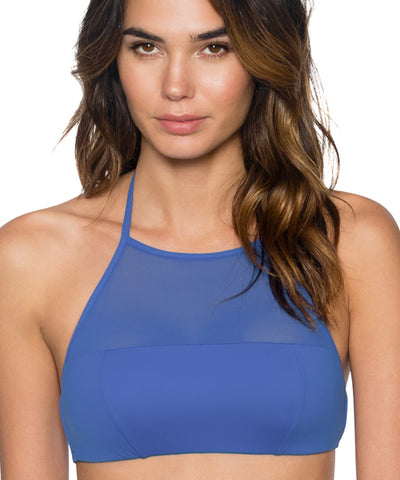 Swim Systems Blue Violet - Elevate High Neck Halter Bikini Top
